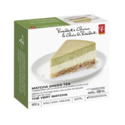 President's Choice Matcha Green Tea Cheesecake with coconut and cookie crust