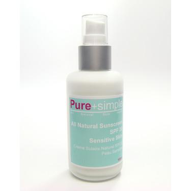 Pure+simple All Natural SPF 30 Sensitive Skin
