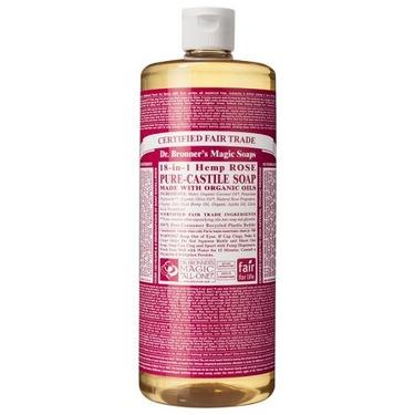 Dr. Bronner's Rose Castile Liquid Soap