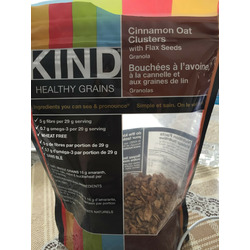 KIND Cinnamon Oat Clusters with Flax Seeds