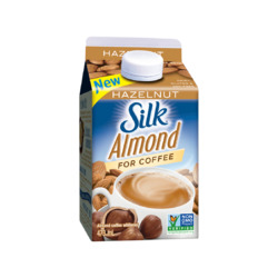 Silk almond for coffee hazlenut
