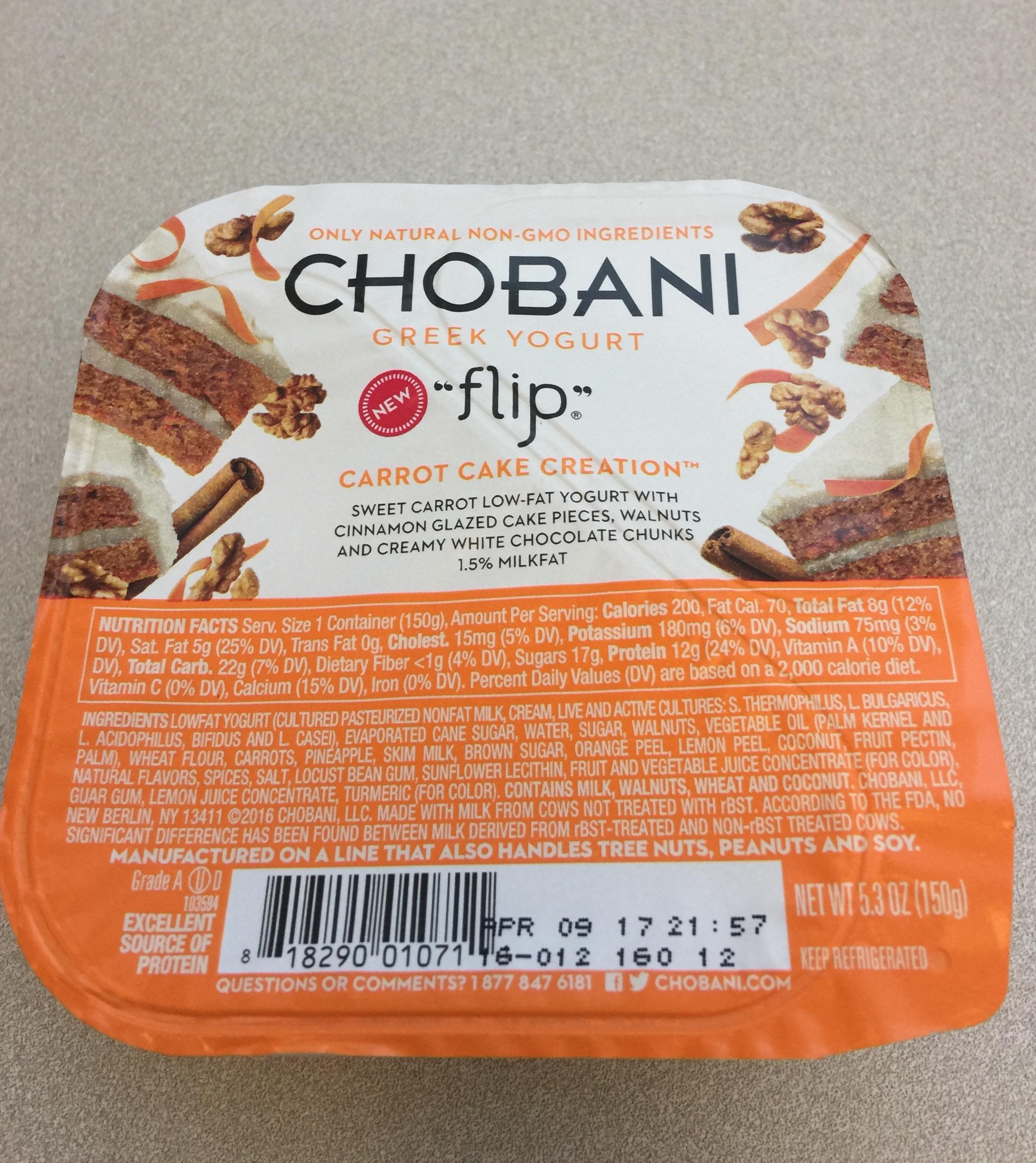 Chobani Carrot Cake Flip