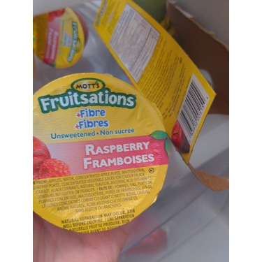 Mott's Fruitsations +Fibre Unsweetened Raspberry