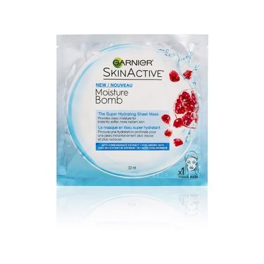 Garnier SkinActive Moisture Bomb Super Hydrating Sheet Mask Pomegranate + Hyaluronic Acid