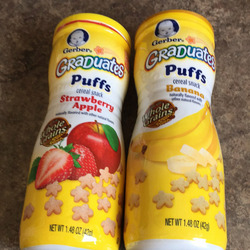 Gerber Graduates Puffs Cereal Snack Peach
