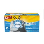 Glad ForceFlex Drawstring Tall Kitchen Trash Bags