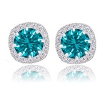 Orrous And Co Legacy Collection 18 K white Gold Cubic Zirconia Earrings