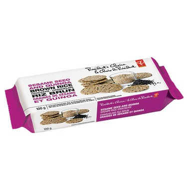 President's Choice Sesame Seed and Quinoa Brown Rice Crackers