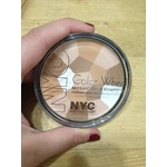 NYC color wheel mosaic face powder 726 bronzed pink