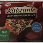 Dr. Oetker Ristorante Ultra Thin Crust Kale, Bacon & Ricotta pizza