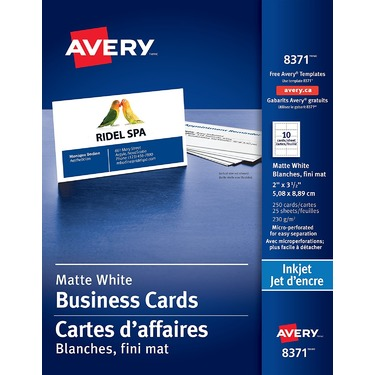 Avery perforated business cards for inkjet printers reviews in home avery perforated business cards for inkjet printers reviews in home office chickadvisor reheart Choice Image
