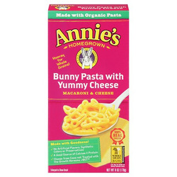 Annie's homegrown bunny pasta with yummy cheese