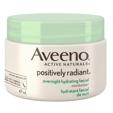 AVEENO® POSITIVELY RADIANT® Overnight Hydrating Facial