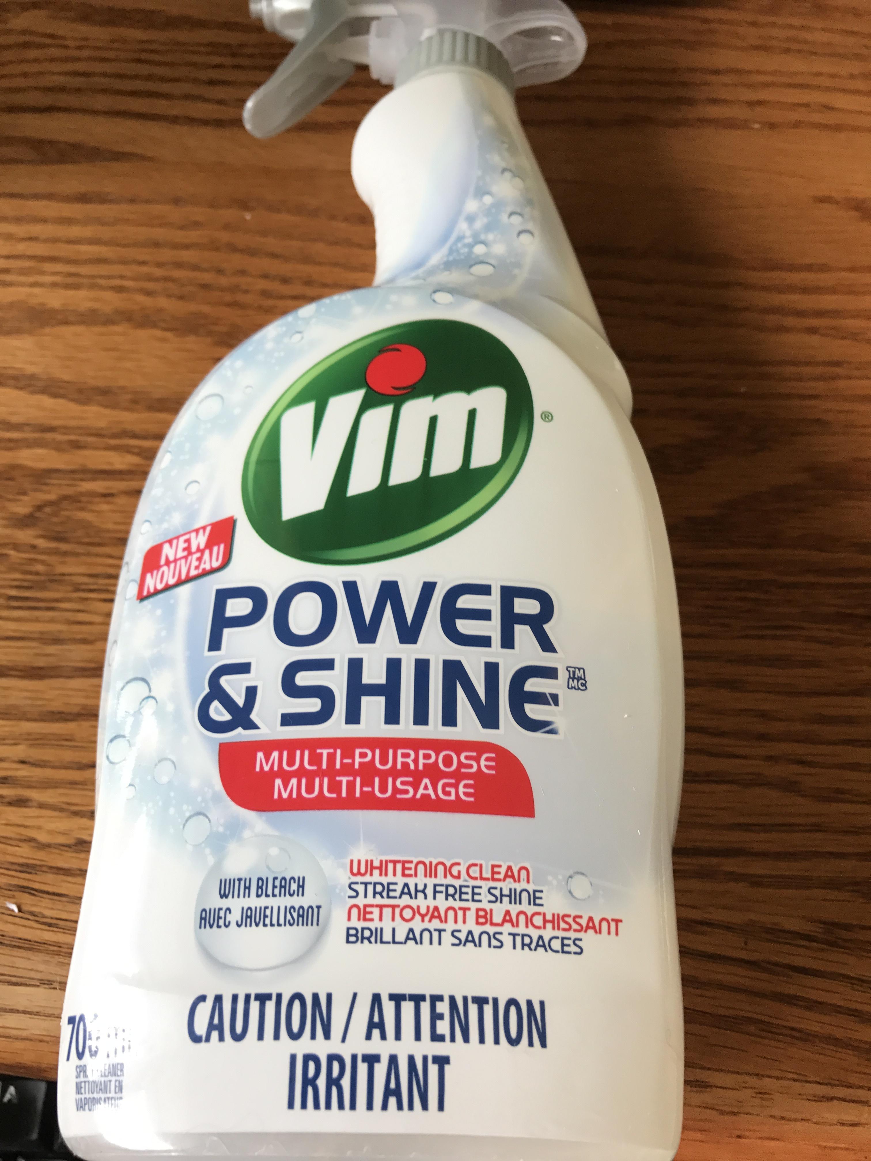Vim Power Amp Shine Multi Purpose Spray With Bleach Reviews