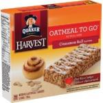 Quaker Harvest Oatmeal to go Cinnamon roll bars