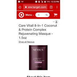 Nexxus Vitall 8-in-1 Hair Masque For All Hair Types