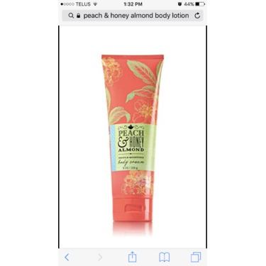 Peach & Honey Almond Body Lotion - Bath and Body Works