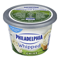 Philadelphia whipped cream cheese chive