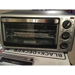 Black & Decker Stainless Steel/Black Toaster Oven