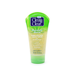 Clean & Clear Morning Burst Shine Control Facial Scrub with Bursting Beads