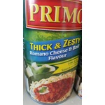 Primo Thick and Zesty Romano Cheese and Basil Flavor