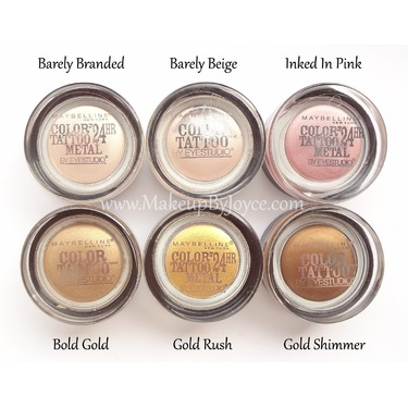 Maybelline color tattoo metal 24hr eyeshadow in 70 barely for Maybelline color tattoo barely branded