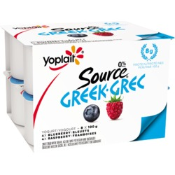 Yoplait Greek Yogurt Blueberry Raspberry