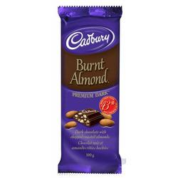Cadbury Burnt Almond Dark Chocolate Bar
