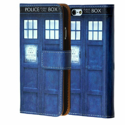 iPhone SE Case Wallet, DURARMOR® Tardis Doctor Who Police Box Premium PU Leather Folio Wallet Case