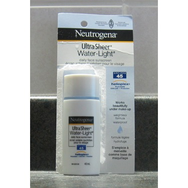 Neutrogena Ultra Sheer Water-Light Daily Face Sunscreen SPF 45