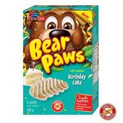 Dare Bear Paws Birthday Cake Flavour
