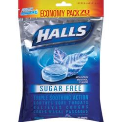 Halls Mentho-Lyptus no sugar added cough drops
