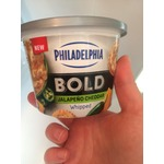 Philadelphia whipped cream cheese Chedder Jalapeño
