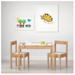 LÄTT Children's table and 2 chairs