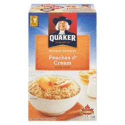 Quaker Peaches & Cream Oatmeal