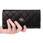 Women's wallet Elegant Clutch Crown Wallet Long Purse Leather Wallet