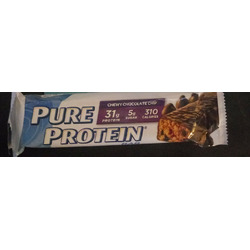 Pure protein chewy chocolate chip bar