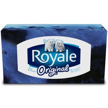 Royale Original 2 ply facial tissue, 126 per box