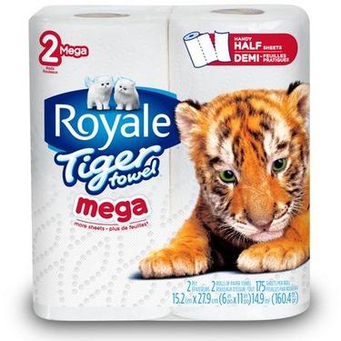 Royale Tiger Towel Half Sheets