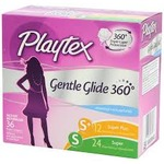 Playtex Gentle Glide Tampons with Triple Layer Protection, Regular and Super Multi-Pack, Unscented