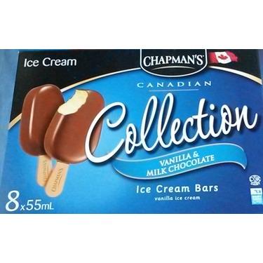 Chapman's Collection Vanilla & Milk Chocolate Ice Cream Bars