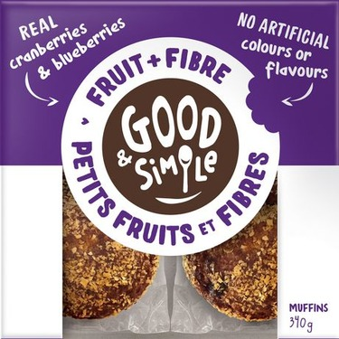 Good & Simple Fruit + Fibre Muffins