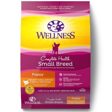 Wellness Complete Health Small Breed Puppy Deboned Turkey, Oatmeal & Salmon Meal Recipe