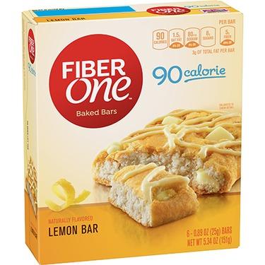Fibre one lemon bars