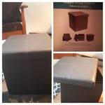 Foldable Storage Ottoman (Fresh Home Elements)