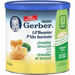 Nestle Gerber lil' beanies cheddar broccoli