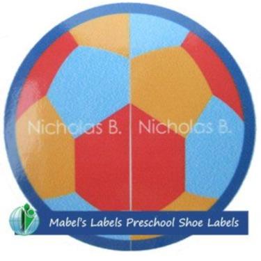 Mabel's Labels Preschool Shoe labels