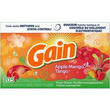 Gain apple mango tango dryer sheets
