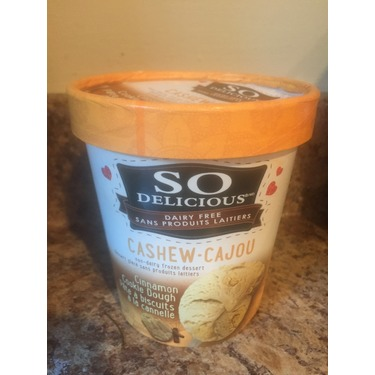 So Delicious Cashew Cinnamon Cookie Dough Non Dairy Frozen Dessert