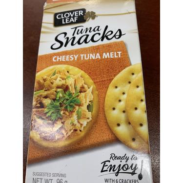 Clover leaf tuna snacks cheesy tuna melt